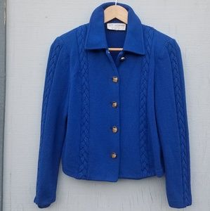 St. John | Royal Blue Cardigan Sweater